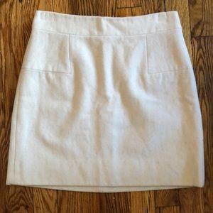 JCrew Cream Wool Mini Skirt